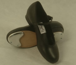 Tap shoes with taps attached